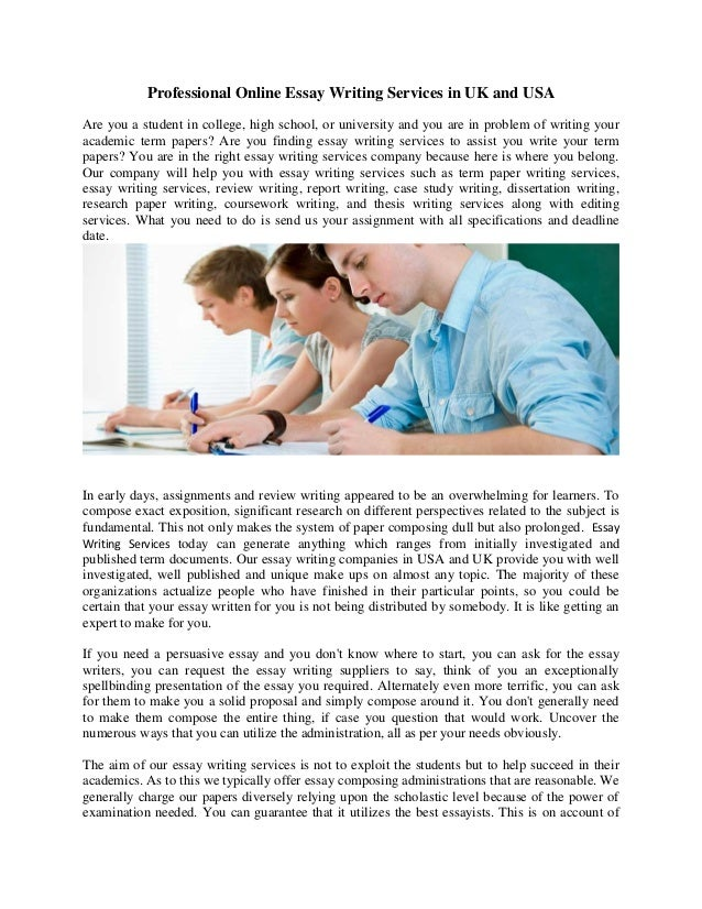 Essay writing services usa professional college