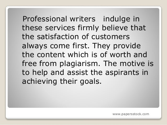 Professional writing service papers
