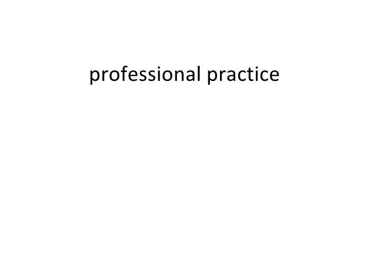 Professional practice 2010