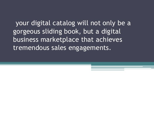 Professional digital shopping catolog that enables tremendous product sales engagements
