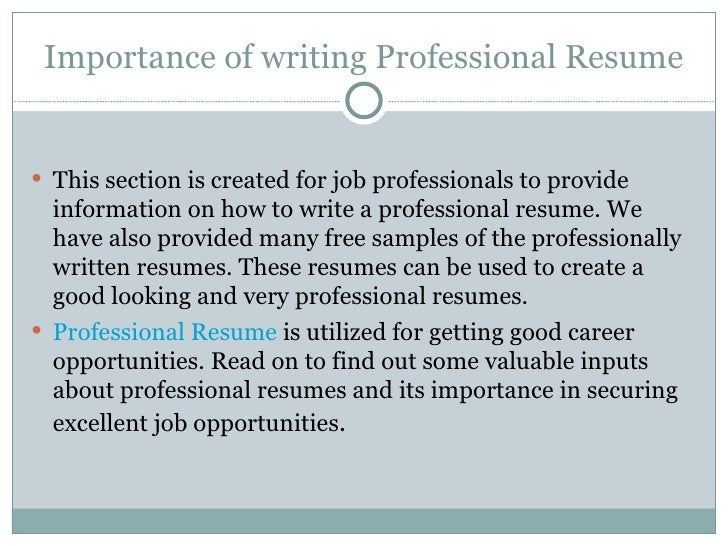 Executive resume writing services toronto north