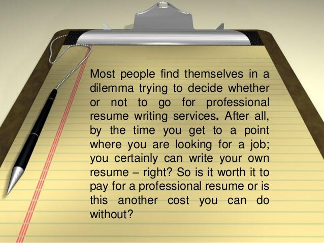 Online professional resume writing services cost