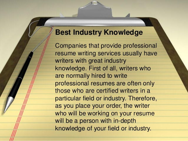 What is the best resume writing service for the money?