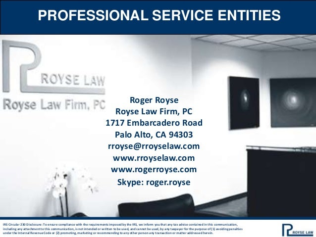 Professional Service Entities Power Point