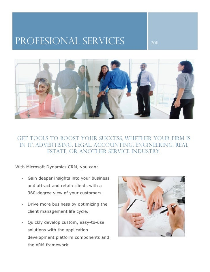 PROFESIONAL SERVICES                            2011Get tools to boost your success, whether your firm is in IT, advertisi...