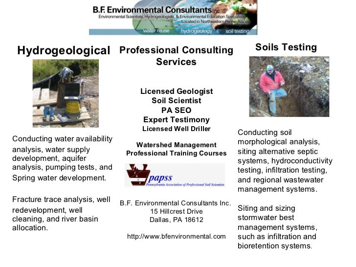 Hydrogeological Conducting water availability  analysis, water supply development, aquifer analysis, pumping tests, and  S...
