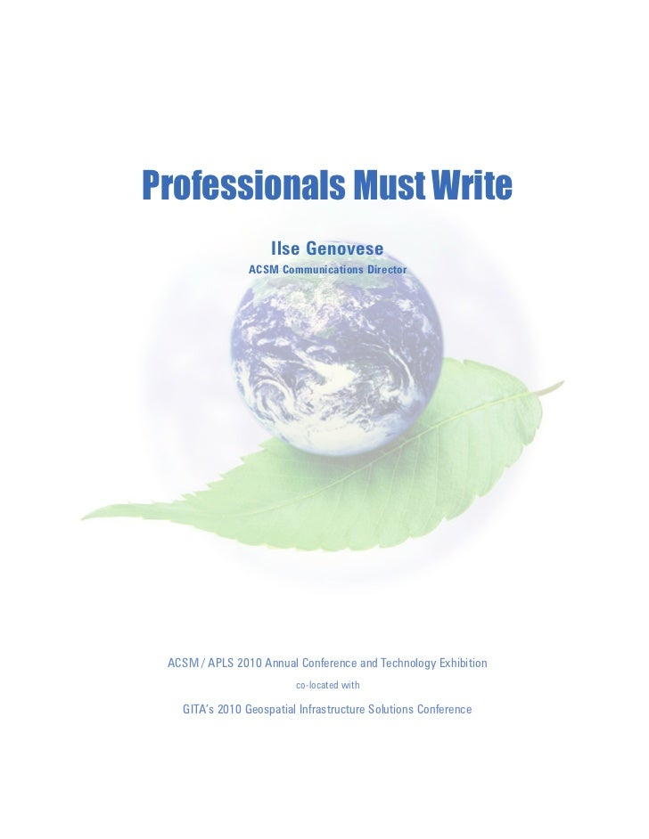 Professionals Must Write Seminar