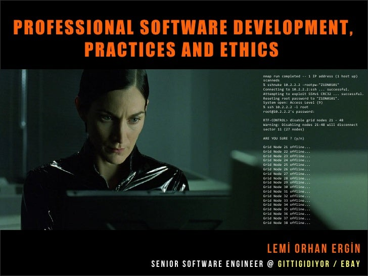 PROFESSIONAL SOFTWARE DEVELOPMENT,       PRACTICES AND ETHICS                                     nmap run completed -- 1 ...