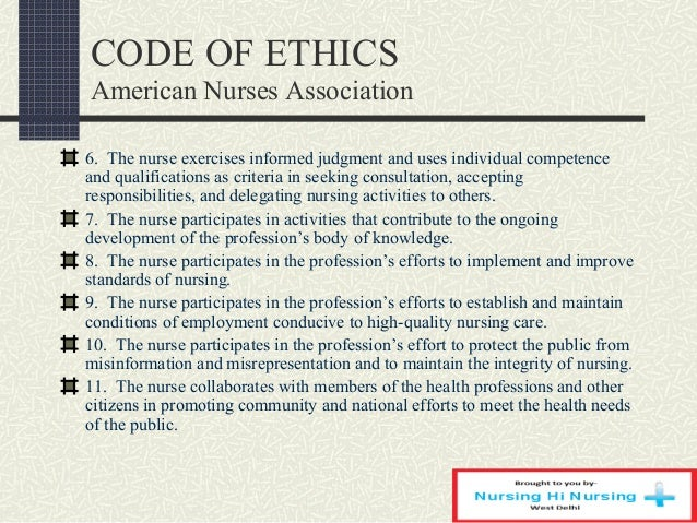 essays on nursing code of ethics Nursing: ethics and ethical principles essay the strong influence by the nursing code of ethics is shown in the purposes they serve and what keeps nurses at the.