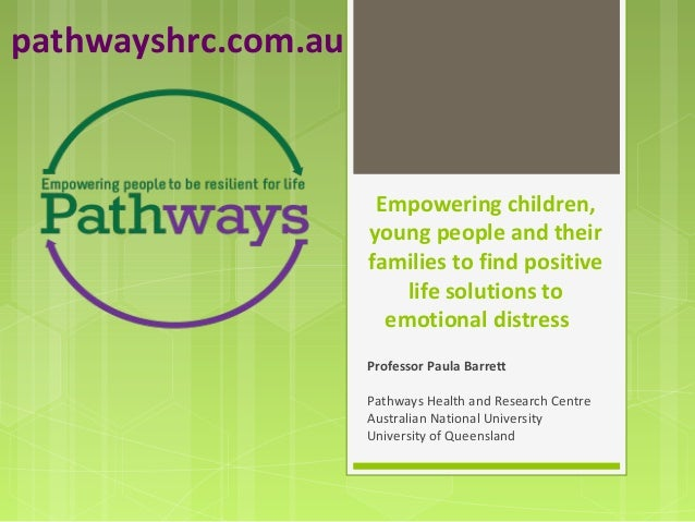 Paula Barrett - Empowering Children, Young people & Their Families to Find Positive Life Solutions to Emotional Distress