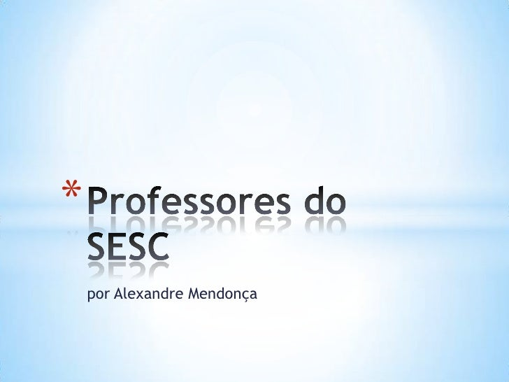 Professores do sesc