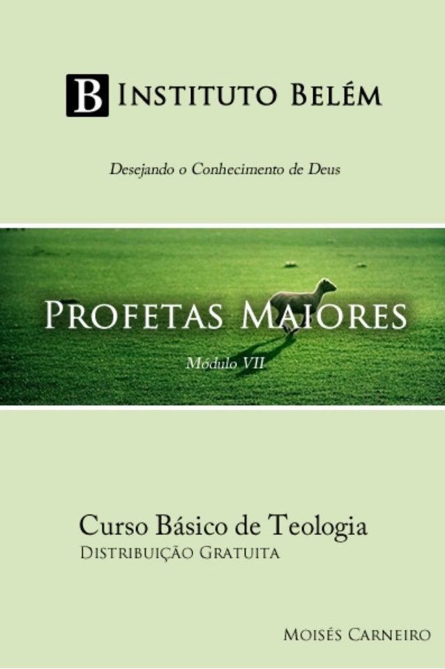 2 Proibida a comercialização Instituto Belém - Desejando o Conhecimento de Deus Faça sua Doação: Ag. 0314 / Op. 013 / C.P....