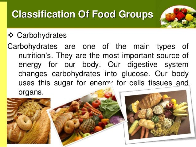 Classification of Food Groups