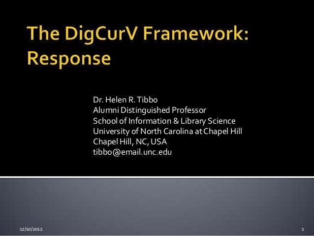 Dr. Helen R. Tibbo             Alumni Distinguished Professor             School of Information & Library Science         ...