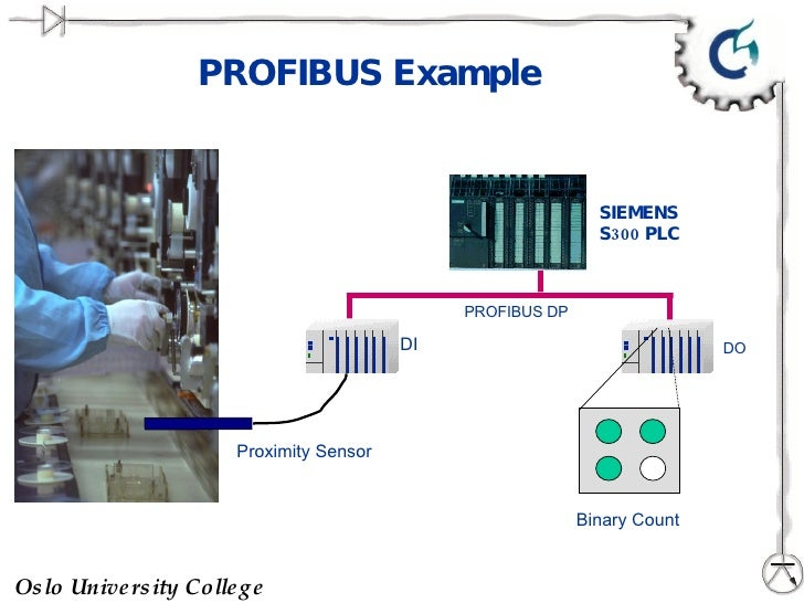PROFIBUS Example SIEMENS S300 PLC DO DI Proximity Sensor PROFIBUS DP Binary Count
