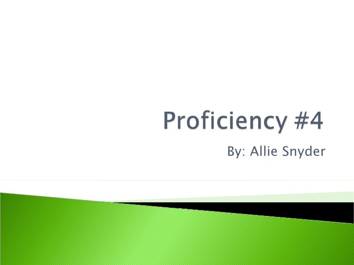 Proficiency #4 for astronomey in science