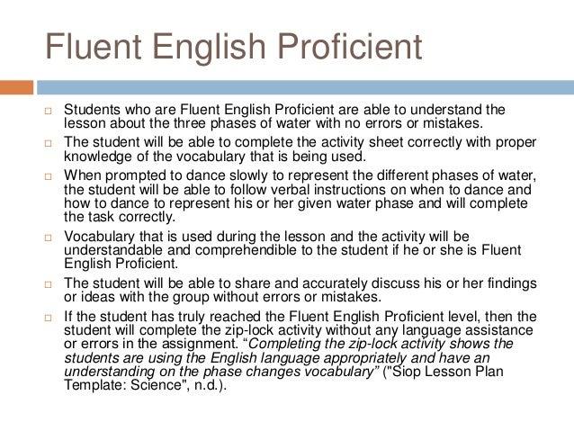 Levels English Proficiency Fluent English Proficient
