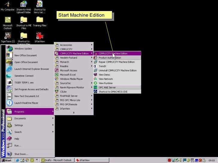 Proficy machine edition environment