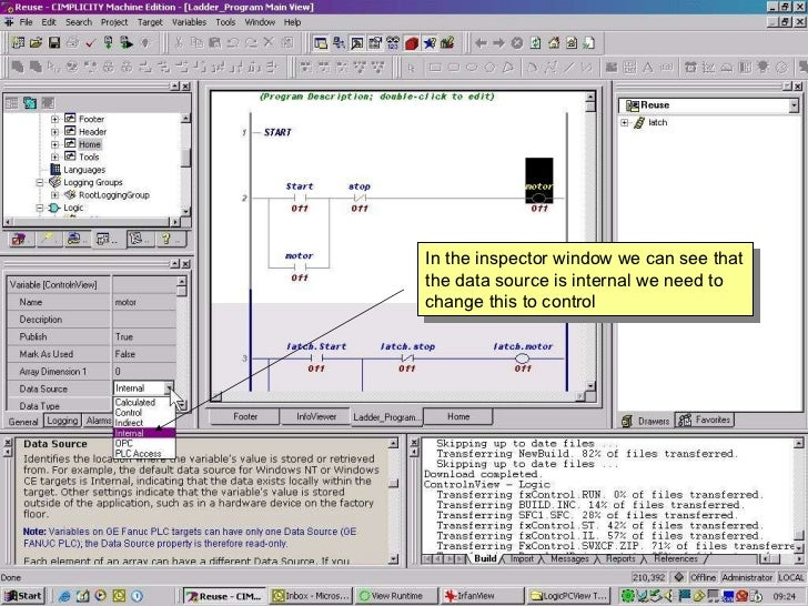 Proficy machine edition logic pc view ethernet