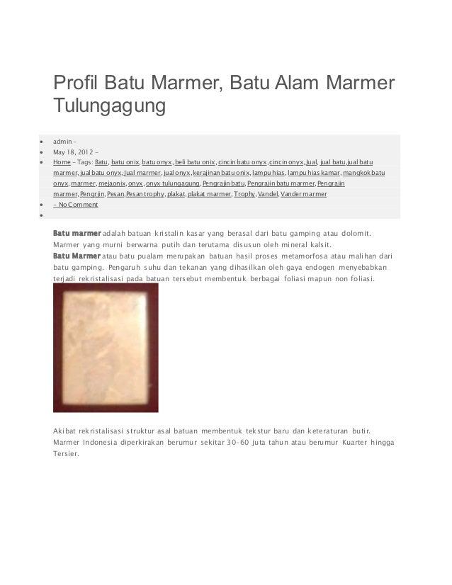profil batu marmer batu alam marmer tulungagung