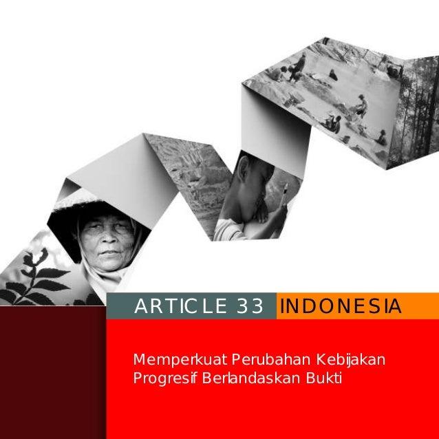 Profil Article 33 Indonesia