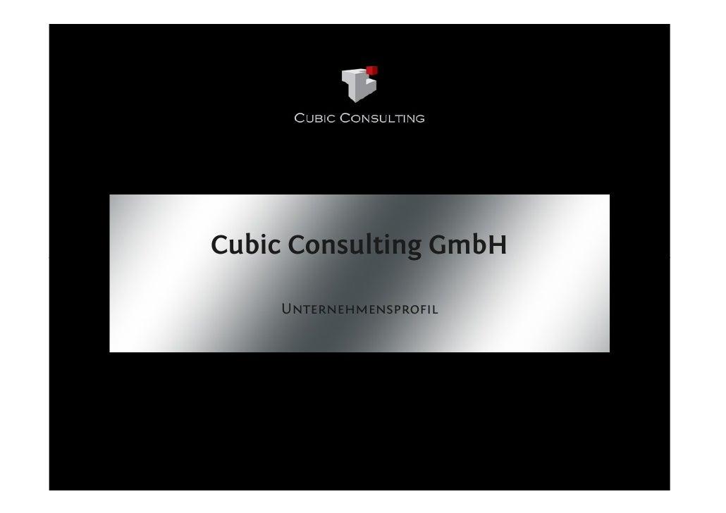 Cubic Consulting GmbH      Unternehmensprofil