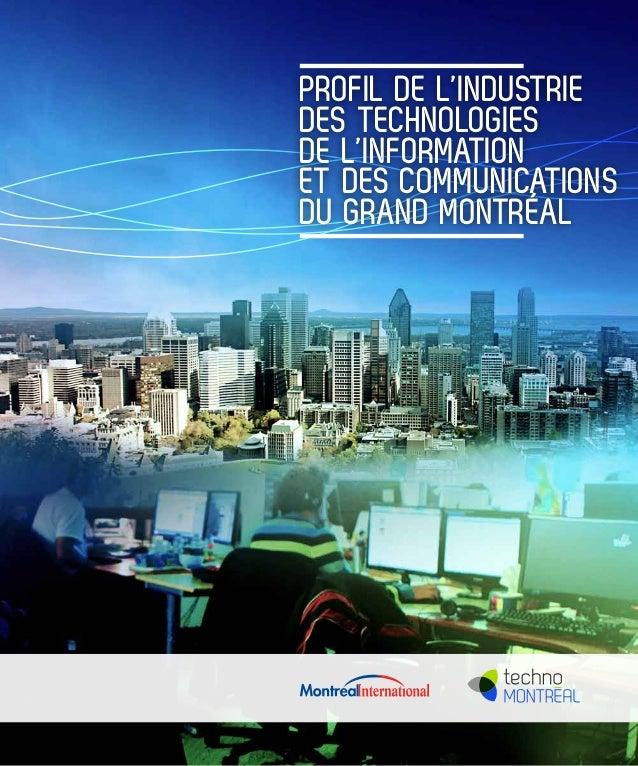 Profil de l'industrie des technologies de l'information et des communications du Grand Montréal
