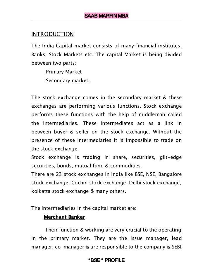 Profile bombay stock exchange