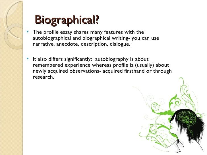 profile essays on a person