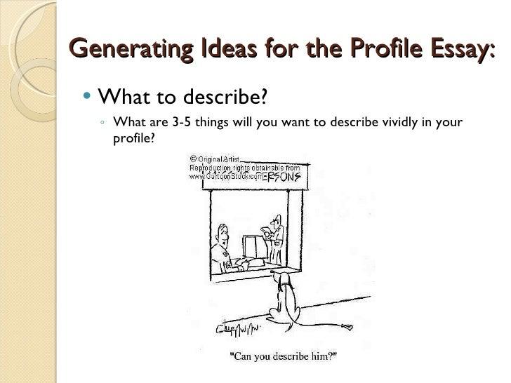 Write personality profile essay