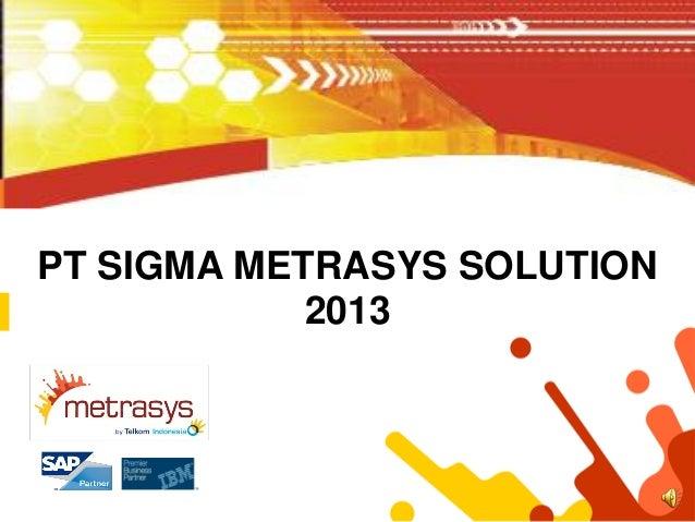 PT SIGMA METRASYS SOLUTION            2013
