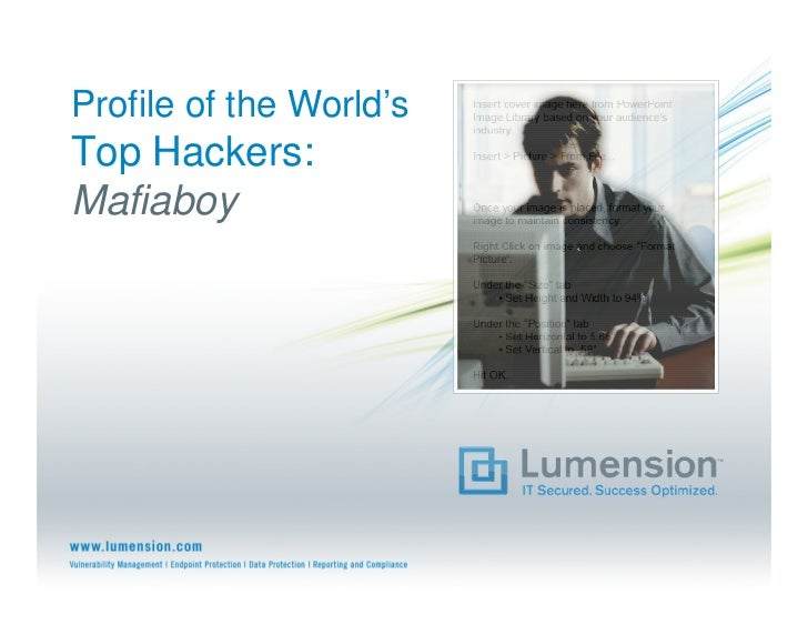 Profile of the World's Top Hackers: Mafiaboy