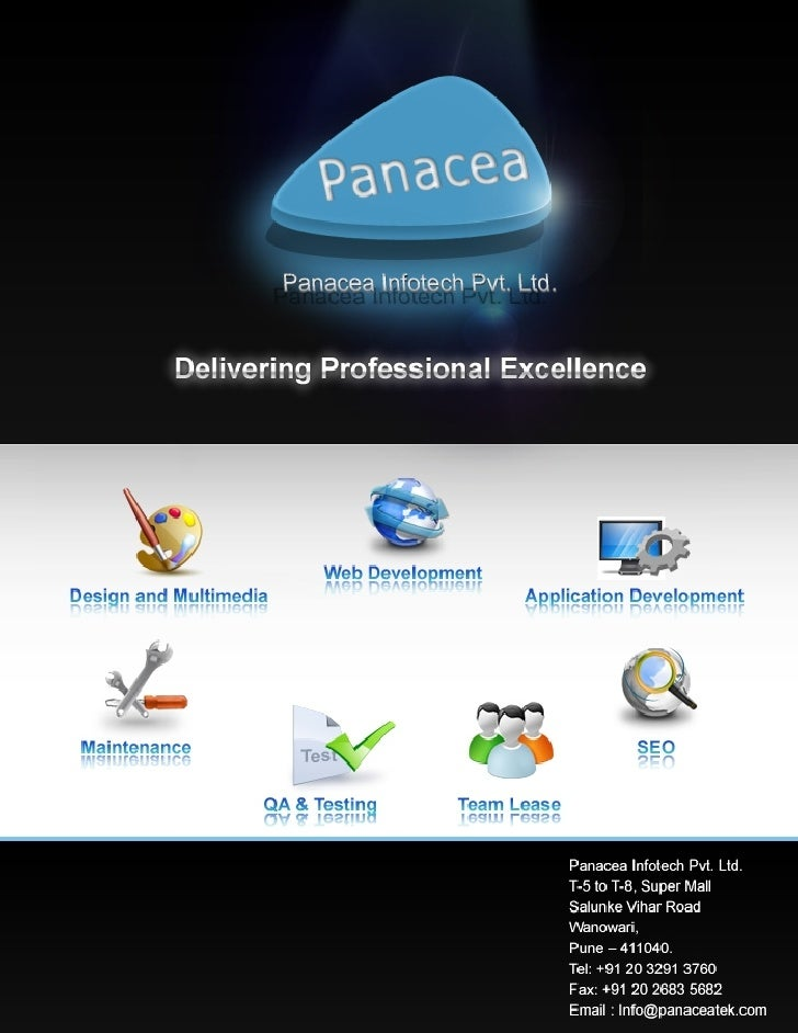 Established in 2004 in Pune, India, Panacea Infotech Private Limited is premier software, services and web design company ...
