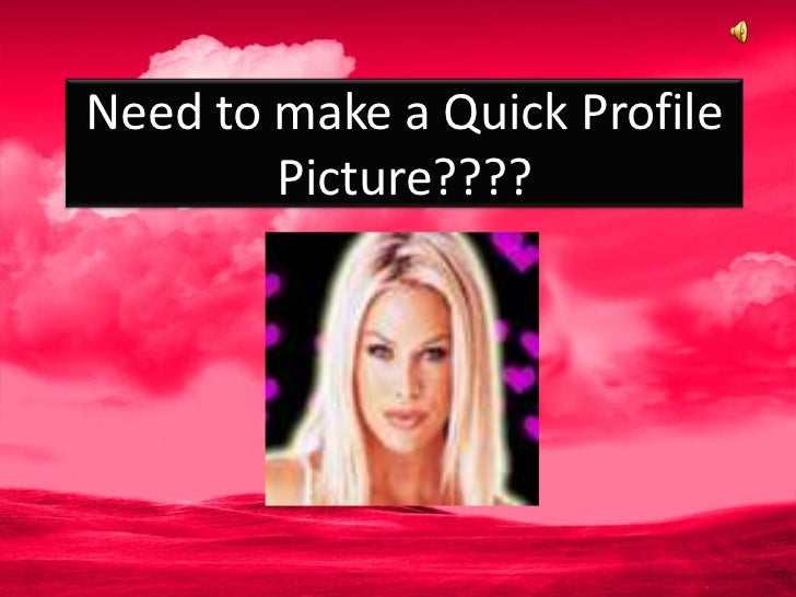 How to create a profile pic online