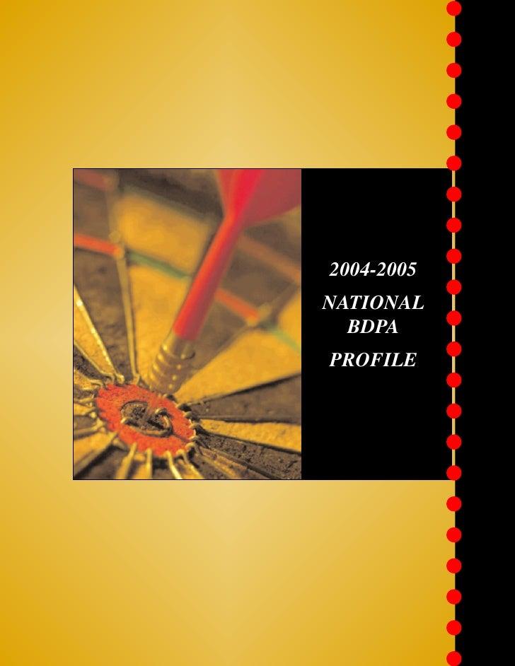 2004-2005 National BDPA Profile
