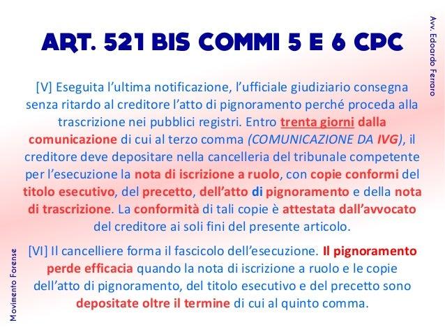Profili del processo esecutivo telematico - Ufficiale giudiziario pignoramento ...