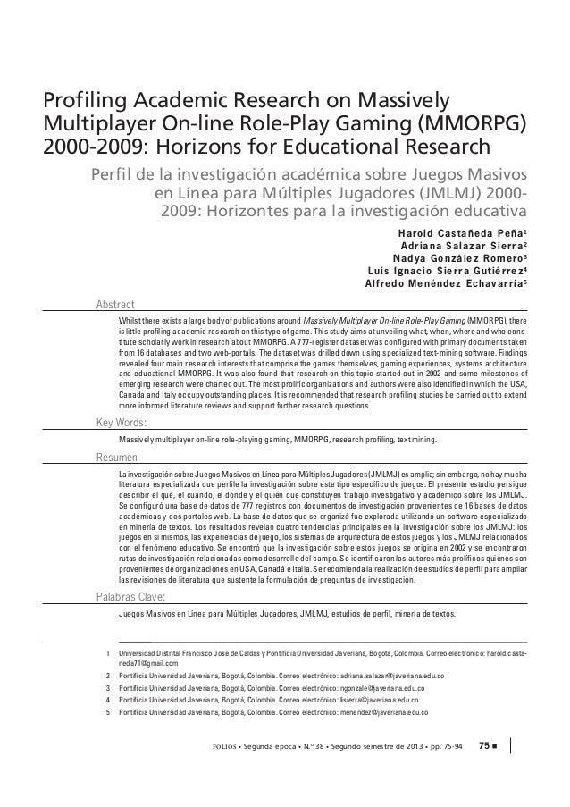 Profiling Academic Research on Massively Multiplayer On-line Role-Play Gaming (MMORPG) 2000-2009: Horizons for Educational...