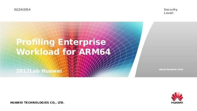 LCA14: Profiling server workload for ARM64