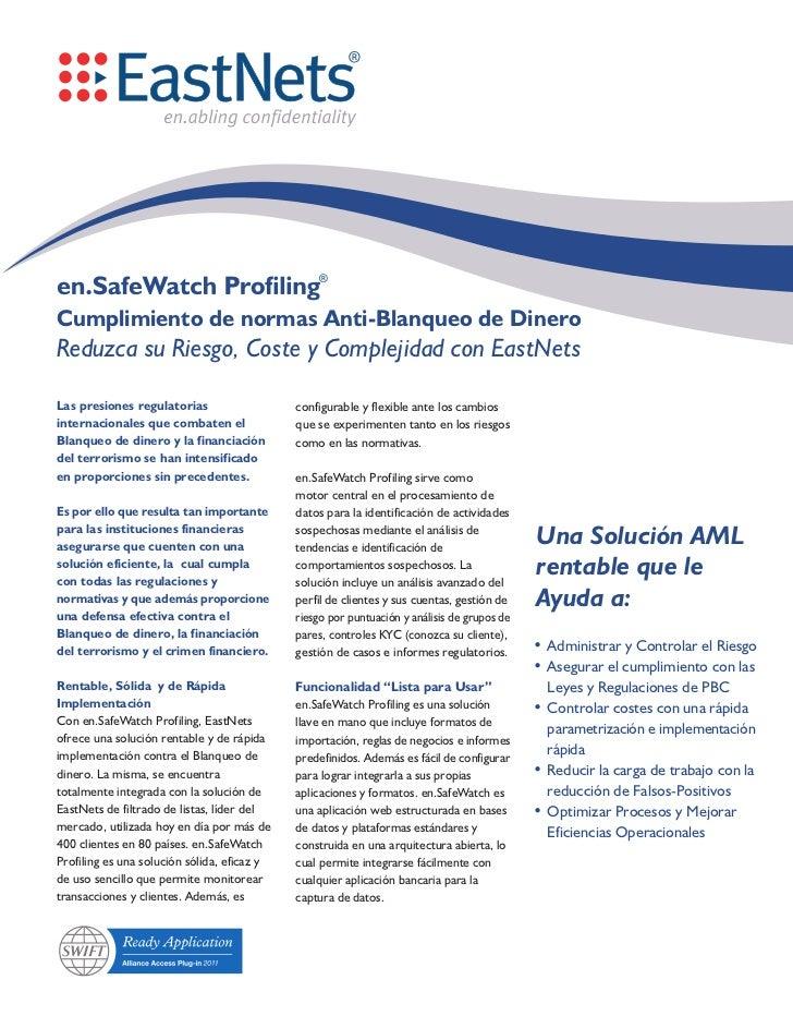 EastNets en.SafeWatch Profiling in Spanish - Brochure