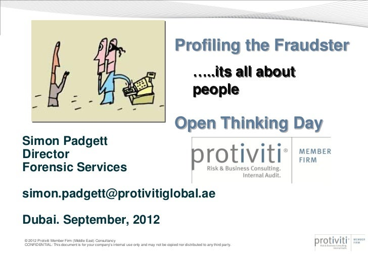 Profiling the Fraudster                                                                                                   ...