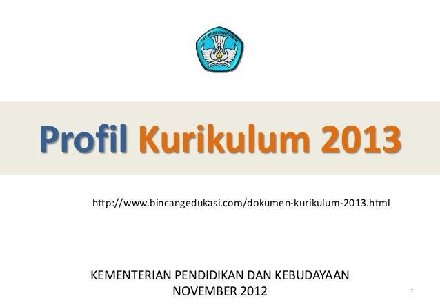Profil kurikulum 2013