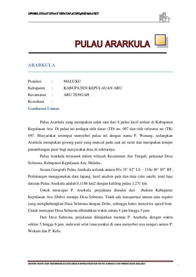 Profil Pulau-Pulau Terluar Provinsi Maluku