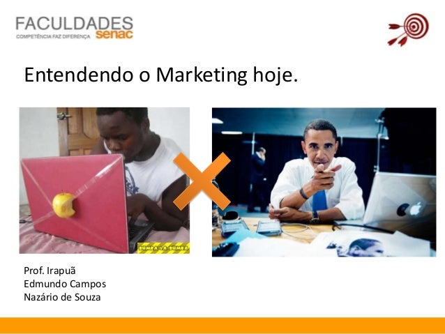 Entendendo o Marketing hoje.Prof. IrapuãEdmundo CamposNazário de Souza