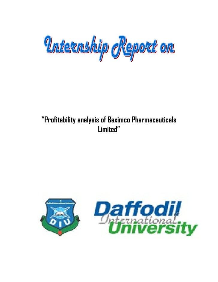 Profitability analysis of beximco pharmaceutical s limited