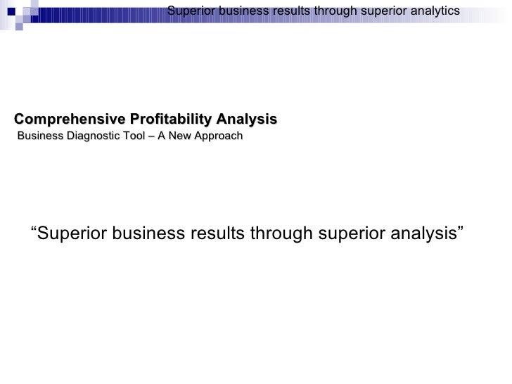 Profitability Diagnostic Tool   New Era