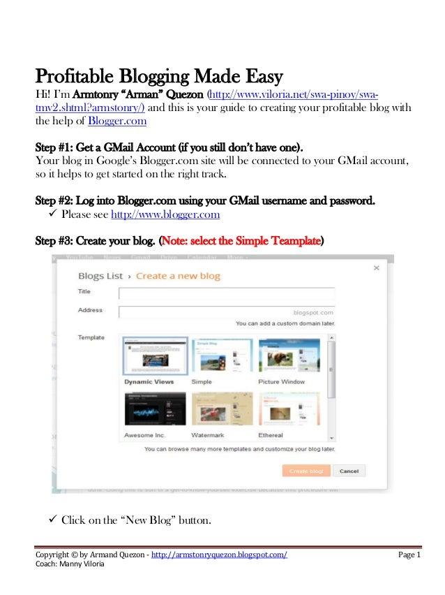 Profitable blogging made easy