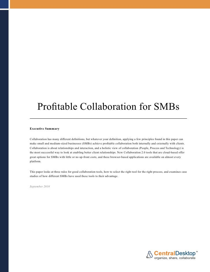 Profitable collaboration whitepaper