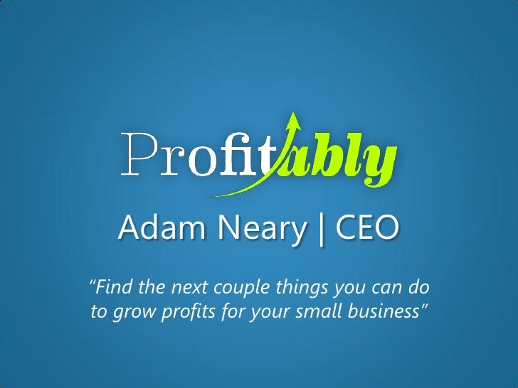Profitably Introduction for Accountants
