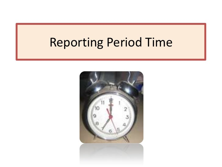 Reporting Period Time<br />