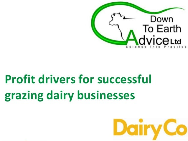 Profit drivers for successful grazing dairy businesses